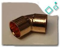 45 degree copper elbow