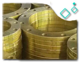 70/30 copper alloy Threaded Flange