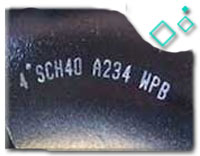 90 Degree FBE Lined Elbow, ASTM A234 WPB, 8 Inch, SCH 40, B16.9