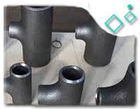 ASTM A234 WP9 Equal Tee, ASME B16.9, SCH XXS, 8 Inch, Black