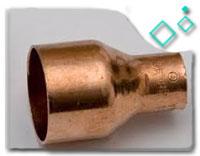 ASTM B62 brass eccentric reducer