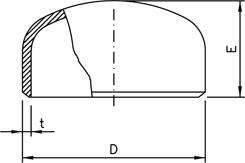 End Cap Dimension Chart