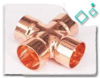 copper 4 way tee