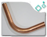 copper nickel alloy 90/10 1D Pipe Bend