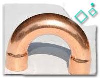 c70600 copper nickel 3D  Pipe Bend