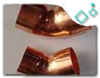 cupro nickel 90/10 Elbow 180deg. SR