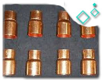 copper reducer 1/2 to 3/8
