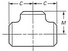 Dimensions of Concentric reducer